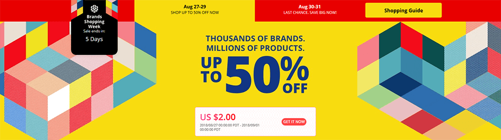 Aliexpress Brands Week